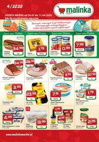 Gazetka promocyjna MALINKA Market - Wesołych Świąt życzy Malinka Market!  - ważna do 11-04-2020