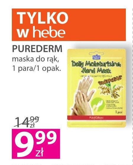 Maska do rąk Purederm