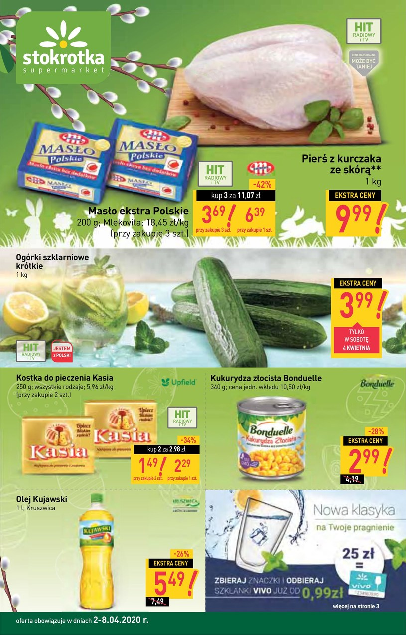 Gazetka promocyjna Stokrotka Supermarket - ważna od 02. 04. 2020 do 08. 04. 2020