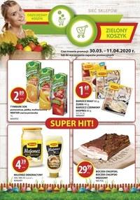 Gazetka promocyjna Zielony Koszyk - Świąteczne promocje w sklepach Zielony Koszyk - ważna do 11-04-2020