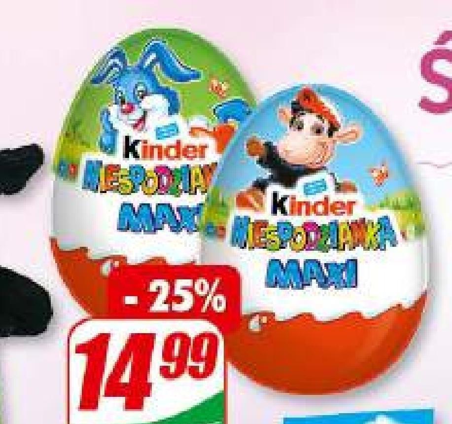 Jajko niespodzianka Kinder niska cena
