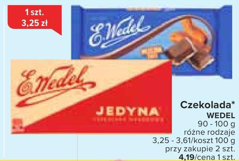 Czekolada Wedel niska cena