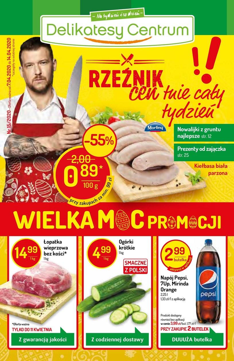 Gazetka promocyjna Delikatesy Centrum - ważna od 07. 04. 2020 do 14. 04. 2020