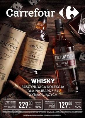 Kolekcja whiskey w Carrefour