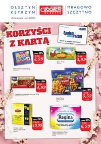 Gazetka promocyjna Społem Olsztyn - Taniej z kartą Społem Olsztyn! - ważna do 27-04-2020