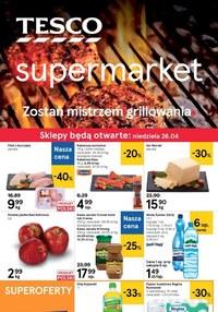 Gazetka promocyjna Tesco Supermarket - Zostań mistrzem grillowania z Tesco Supermarket! - ważna do 29-04-2020