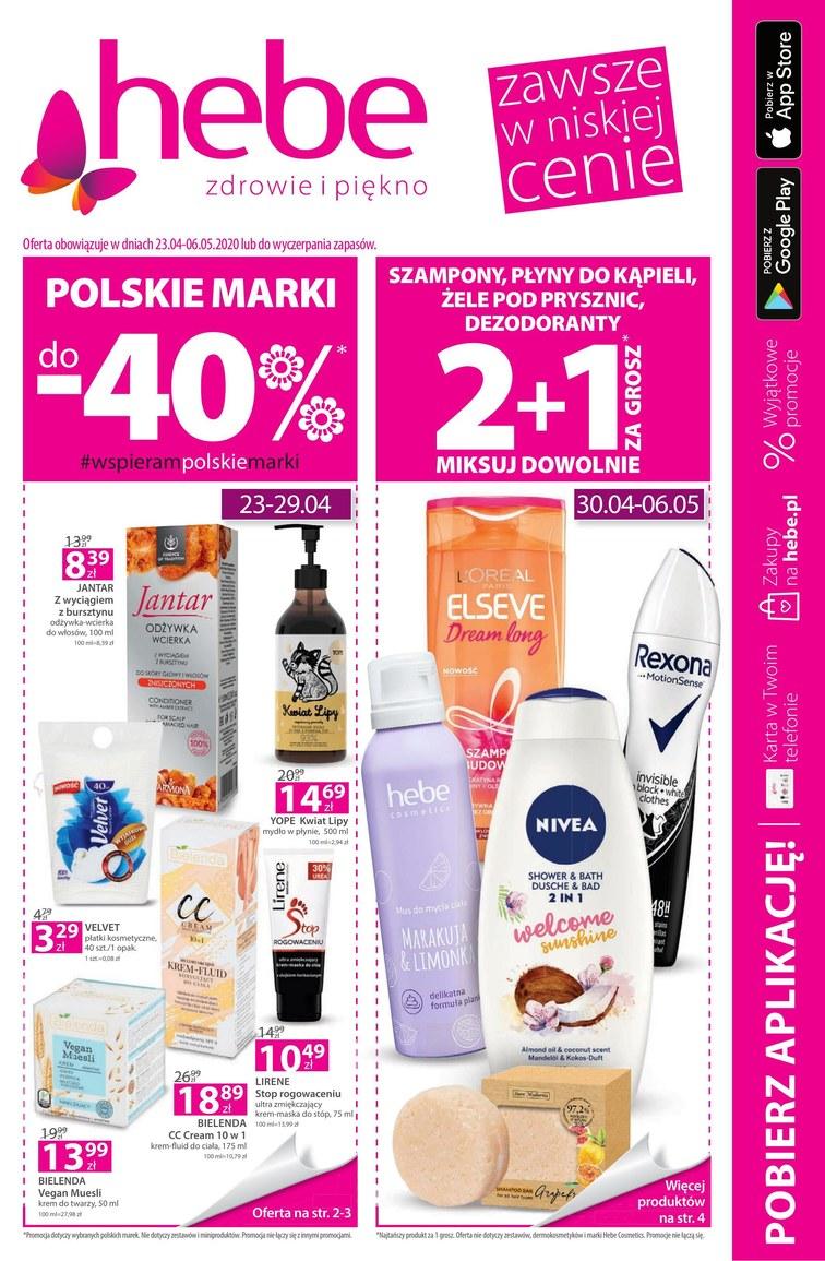 Hebe Gazetka Promocyjna oferty, rabaty, kupony [22.04 do