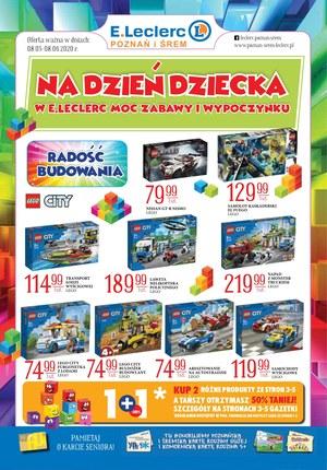 Gazetka promocyjna E.Leclerc - Promocje na Dzień Dziecka w E.Leclerc!
