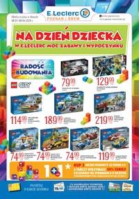 Gazetka promocyjna E.Leclerc - Promocje na Dzień Dziecka w E.Leclerc! - ważna do 08-06-2020