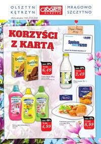 Gazetka promocyjna Społem Olsztyn - Korzyści z kartą Społem Olsztyn! - ważna do 25-05-2020