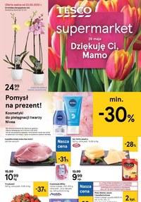 Gazetka promocyjna Tesco Supermarket - Dzień Matki w Tesco Supermarket - ważna do 27-05-2020