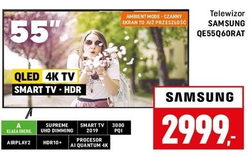 Telewizor QLED QE55Q60RAT Samsung niska cena