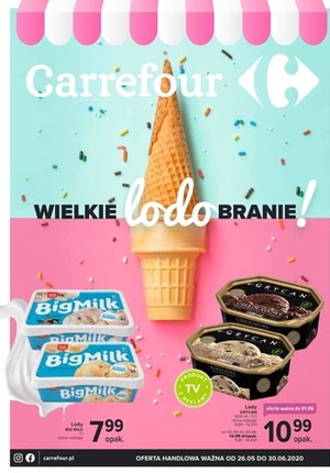 Gazetka promocyjna Carrefour - Carrefour - wielkie lodobranie