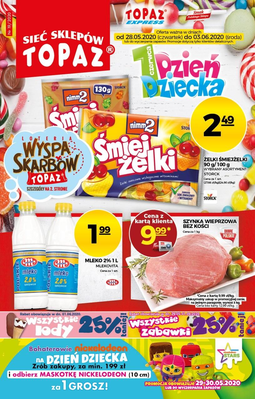 Gazetka promocyjna Topaz - ważna od 28. 05. 2020 do 03. 06. 2020