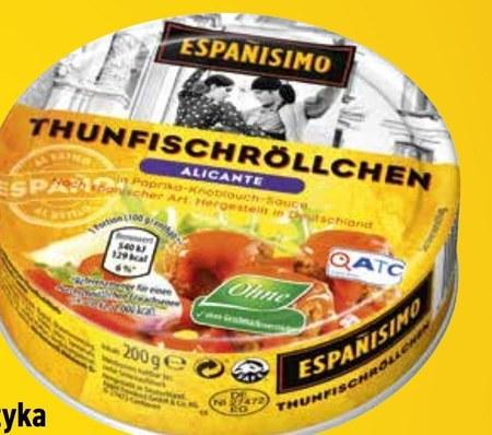 Roladki z tuńczyka Espanisimo