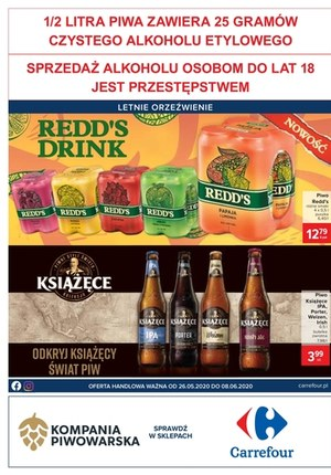 Gazetka promocyjna Carrefour - Kompania Piwowarska w Carrefour!