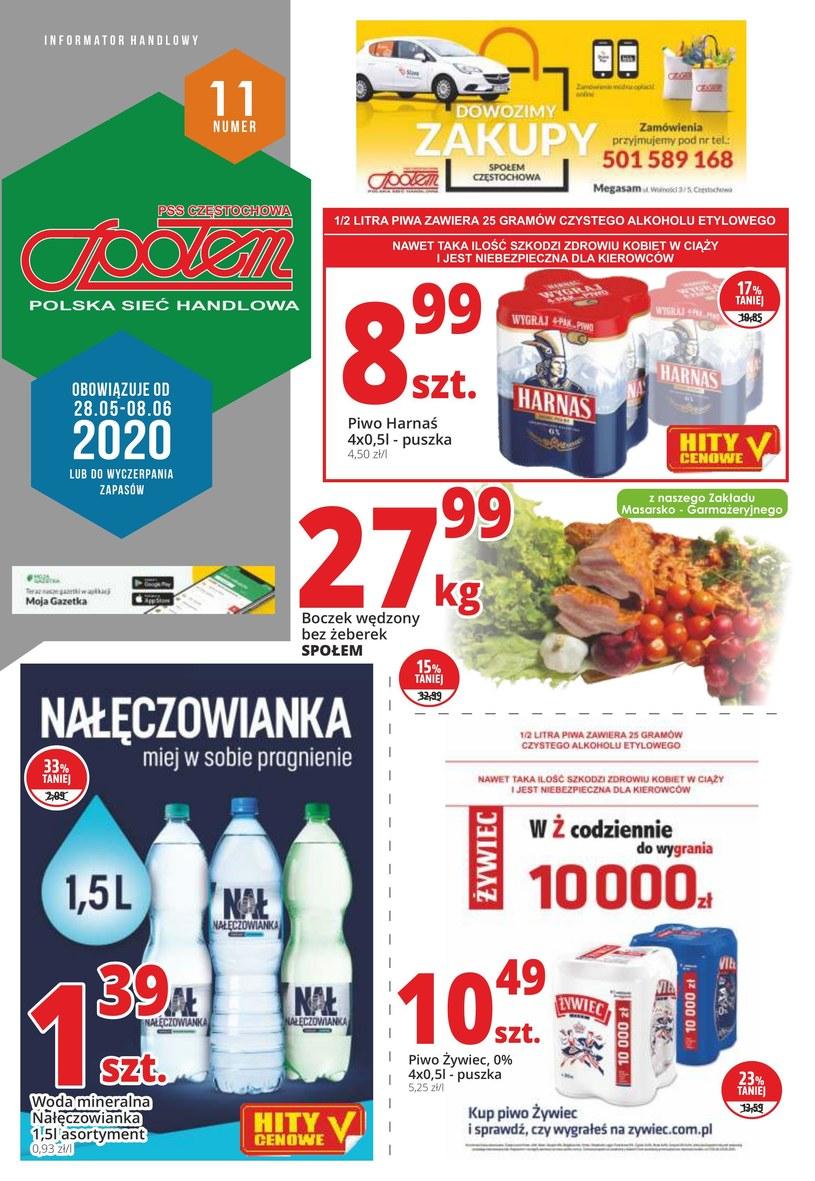Gazetka promocyjna PSS Społem Częstochowa - ważna od 28. 05. 2020 do 08. 06. 2020