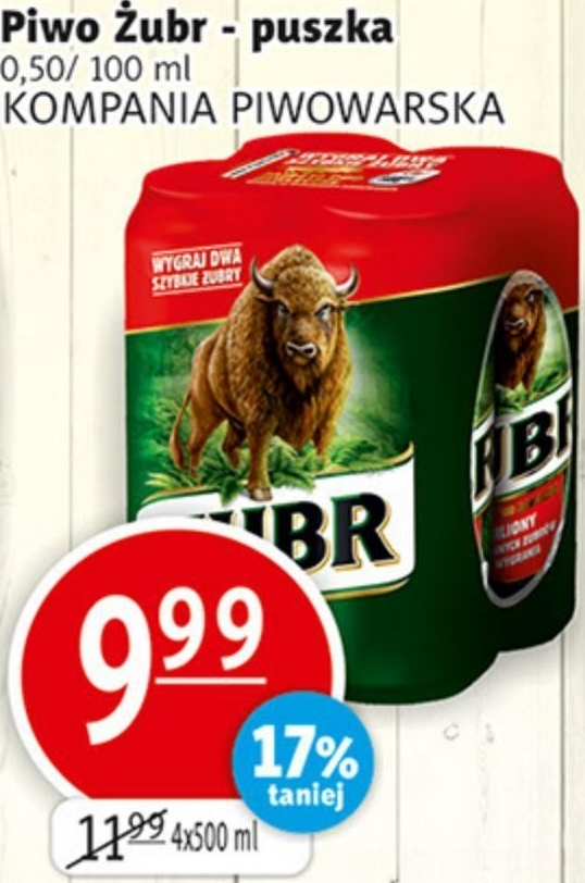 Piwo Żubr niska cena