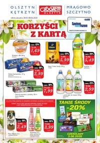 Gazetka promocyjna Społem Olsztyn - Korzyści z kartą w Społem Olsztyn! - ważna do 08-06-2020