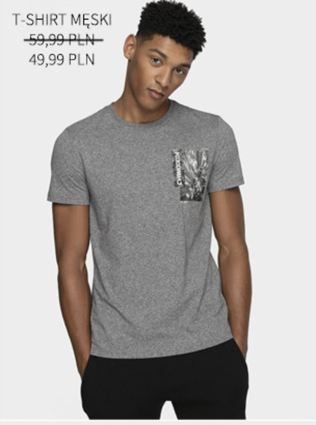 T-shirt męski 4F
