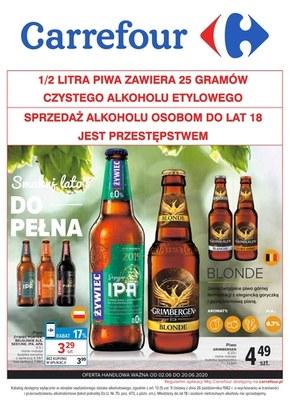 Piwo w promocyjnej cenie w Carrefour