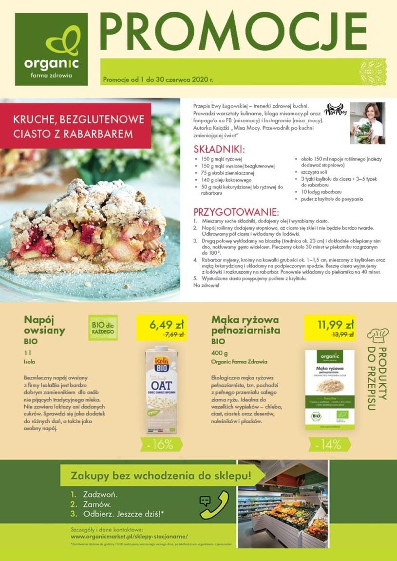 Gazetka promocyjna Organic - ważna od 01. 06. 2020 do 30. 06. 2020