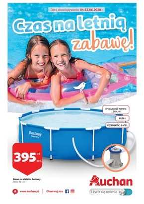 Czas na letnią zabawą z Auchan