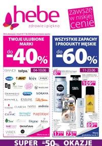 Gazetka promocyjna Hebe - Zniżki do 60% w sklepach Hebe! - ważna do 17-06-2020