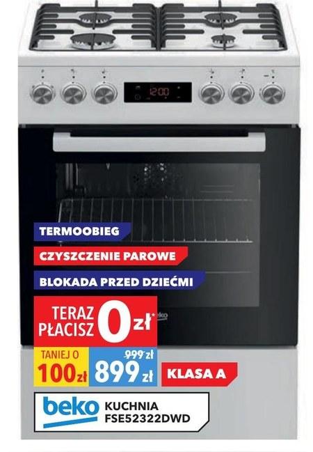 Kuchnia gazowo-elektryczna FSE52322DWD Beko Beko