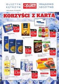 Gazetka promocyjna Społem Olsztyn - Korzyści z Kartą Społem Olsztyn - ważna do 22-06-2020