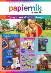 Gazetka promocyjna Papiernik by Empik - Papiernik - tysiące powodów do zabawy - ważna do 16-06-2020