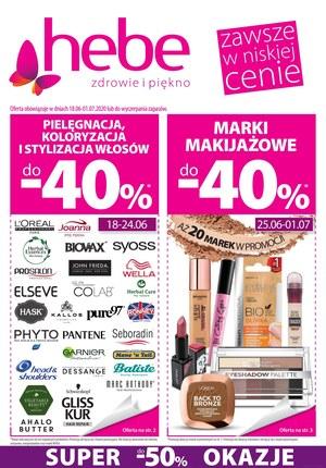 Gazetka promocyjna Hebe - Zniżki do 40% w Hebe!