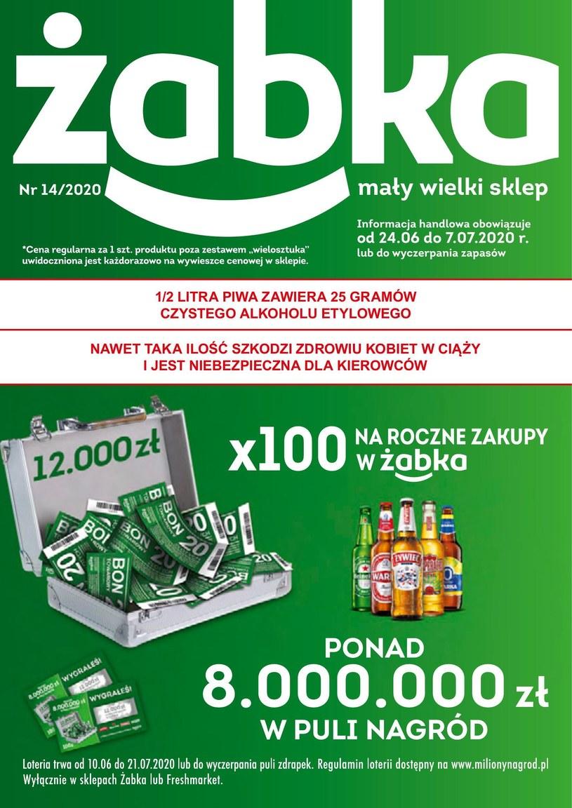 Gazetka promocyjna Żabka - ważna od 24. 06. 2020 do 07. 07. 2020