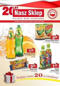 Gazetka promocyjna Nasz Sklep - Urodzinowe ceny w Nasz Sklep - ważna do 04-07-2020