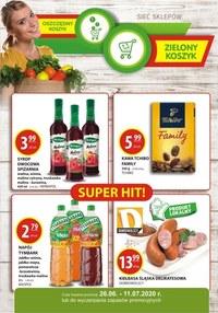Gazetka promocyjna Zielony Koszyk - Promocje w sklepach Zielony Koszyk - ważna do 11-07-2020