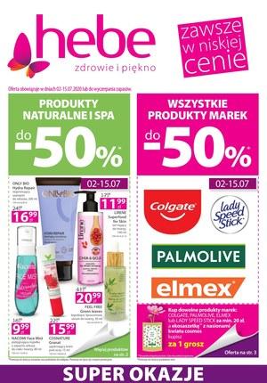 Gazetka promocyjna Hebe - Produkty naturalne i spa w Hebe!