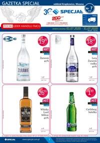 Gazetka promocyjna Specjał - Oferta alkoholowa Specjał Mszana i Krapkowice - ważna do 31-07-2020