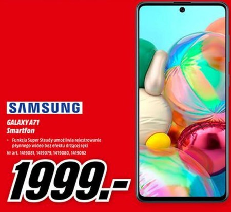 Smartfon Galaxy A71 Samsung