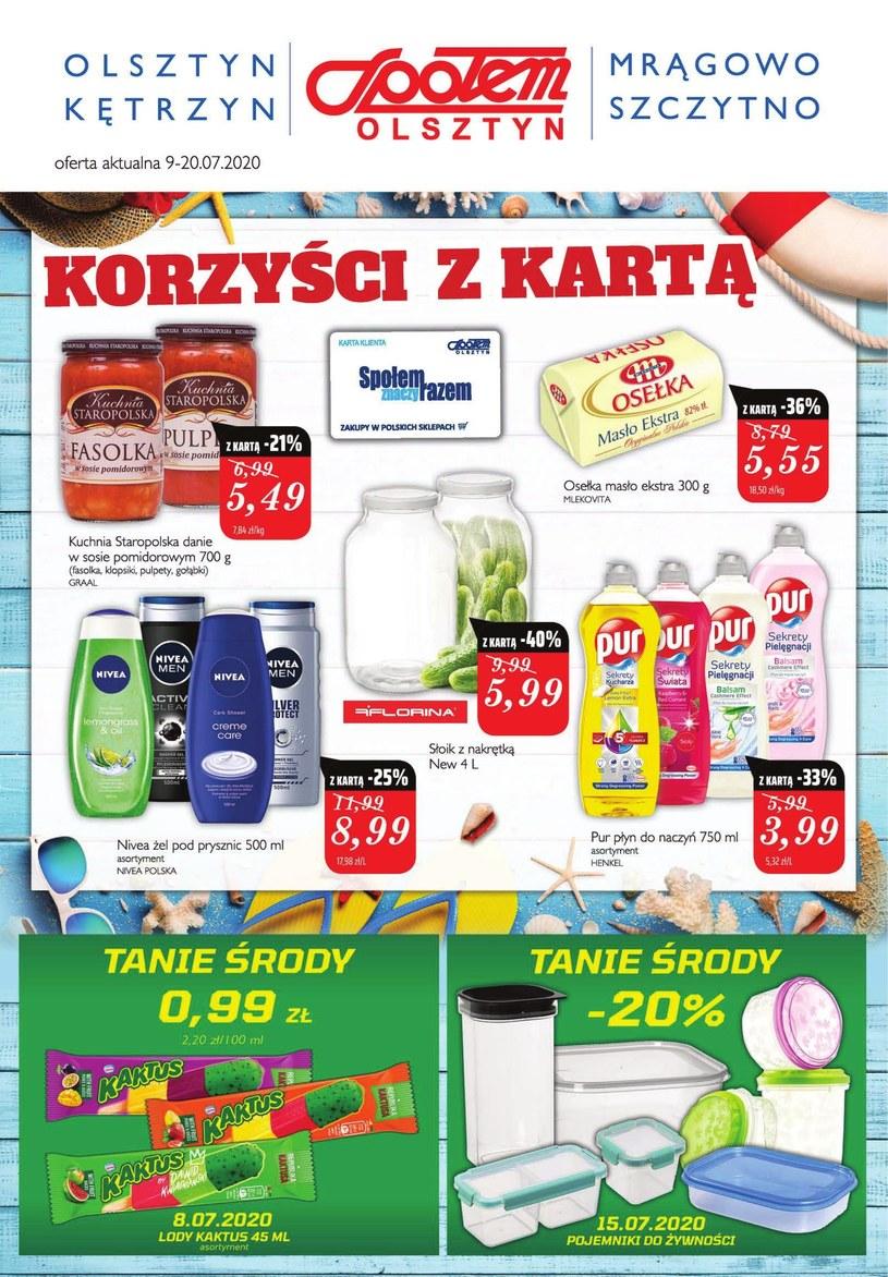 Gazetka promocyjna Społem Olsztyn - ważna od 09. 07. 2020 do 20. 07. 2020