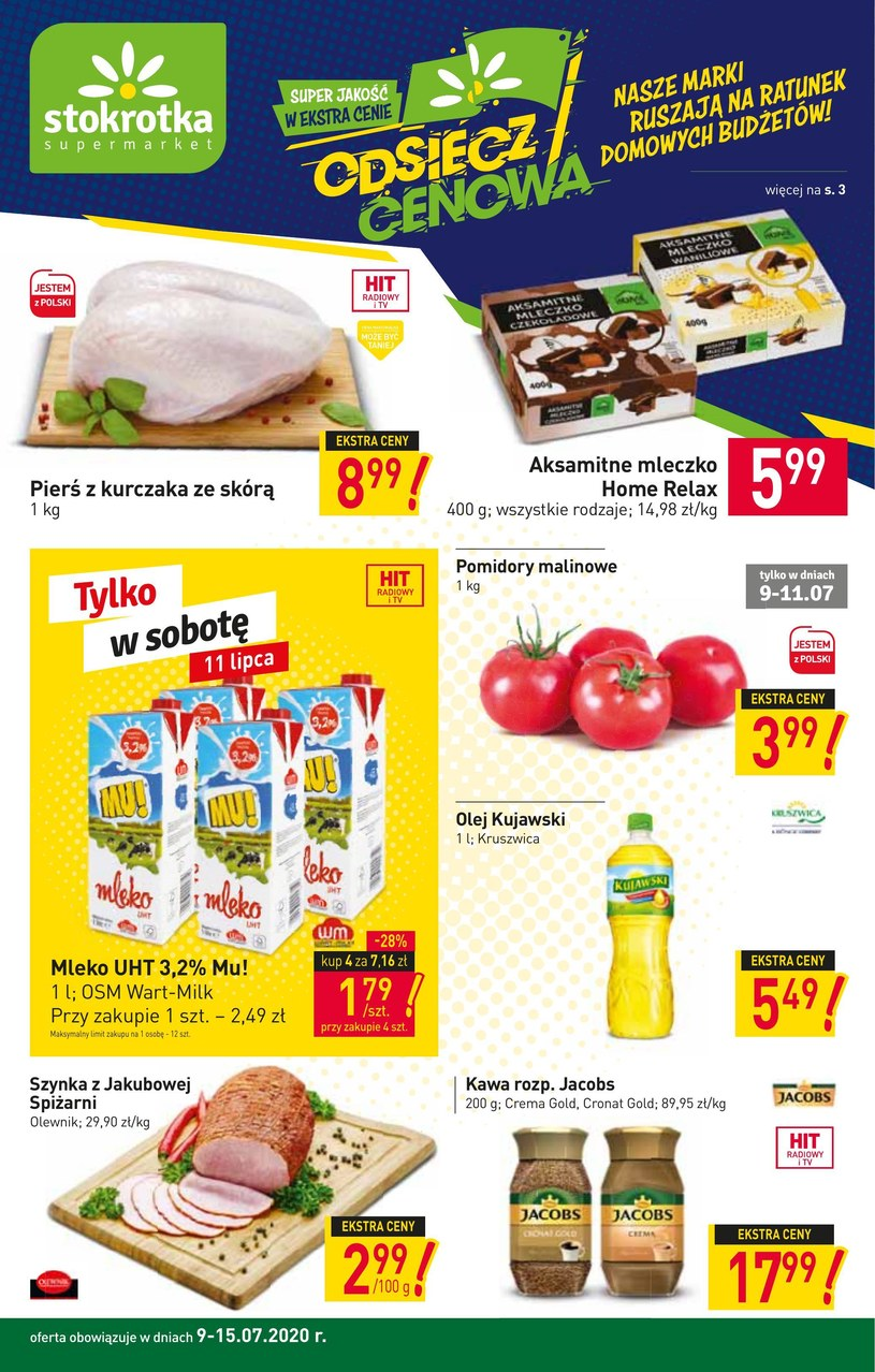 Gazetka promocyjna Stokrotka Supermarket - ważna od 09. 07. 2020 do 15. 07. 2020