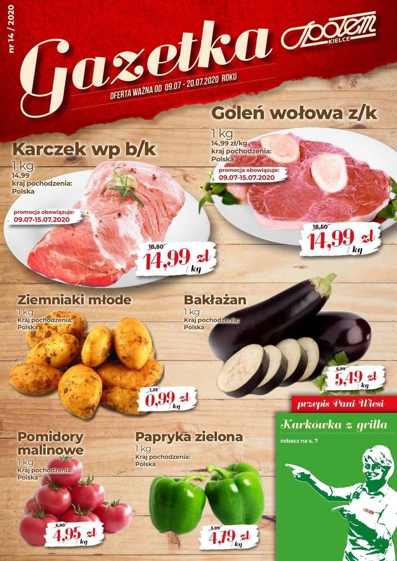 Gazetka promocyjna Społem Kielce - ważna od 09. 07. 2020 do 20. 07. 2020