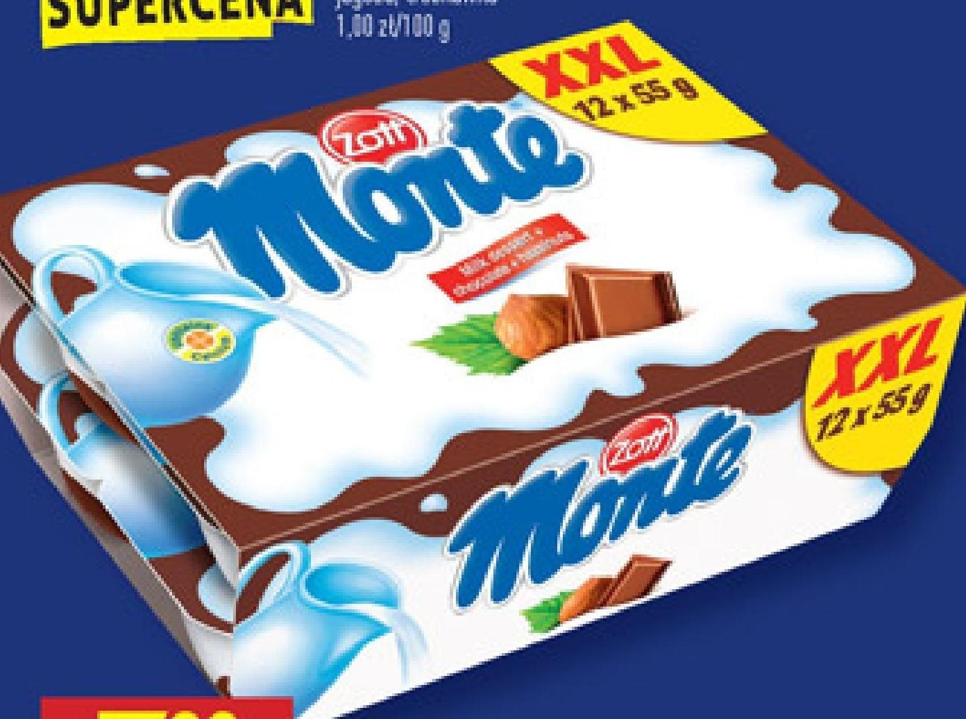 Deser mleczny Monte niska cena