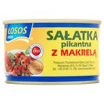 Sałatka z makrelą Łosoś