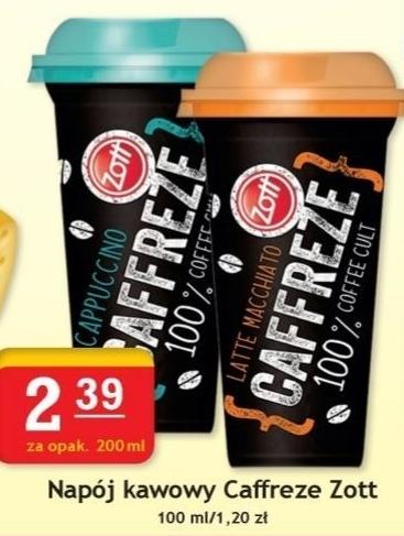Napój kawowy Zott niska cena