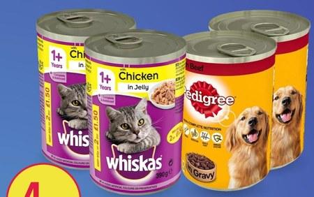 Karma dla psa lub kota Whiskas/Pedigree