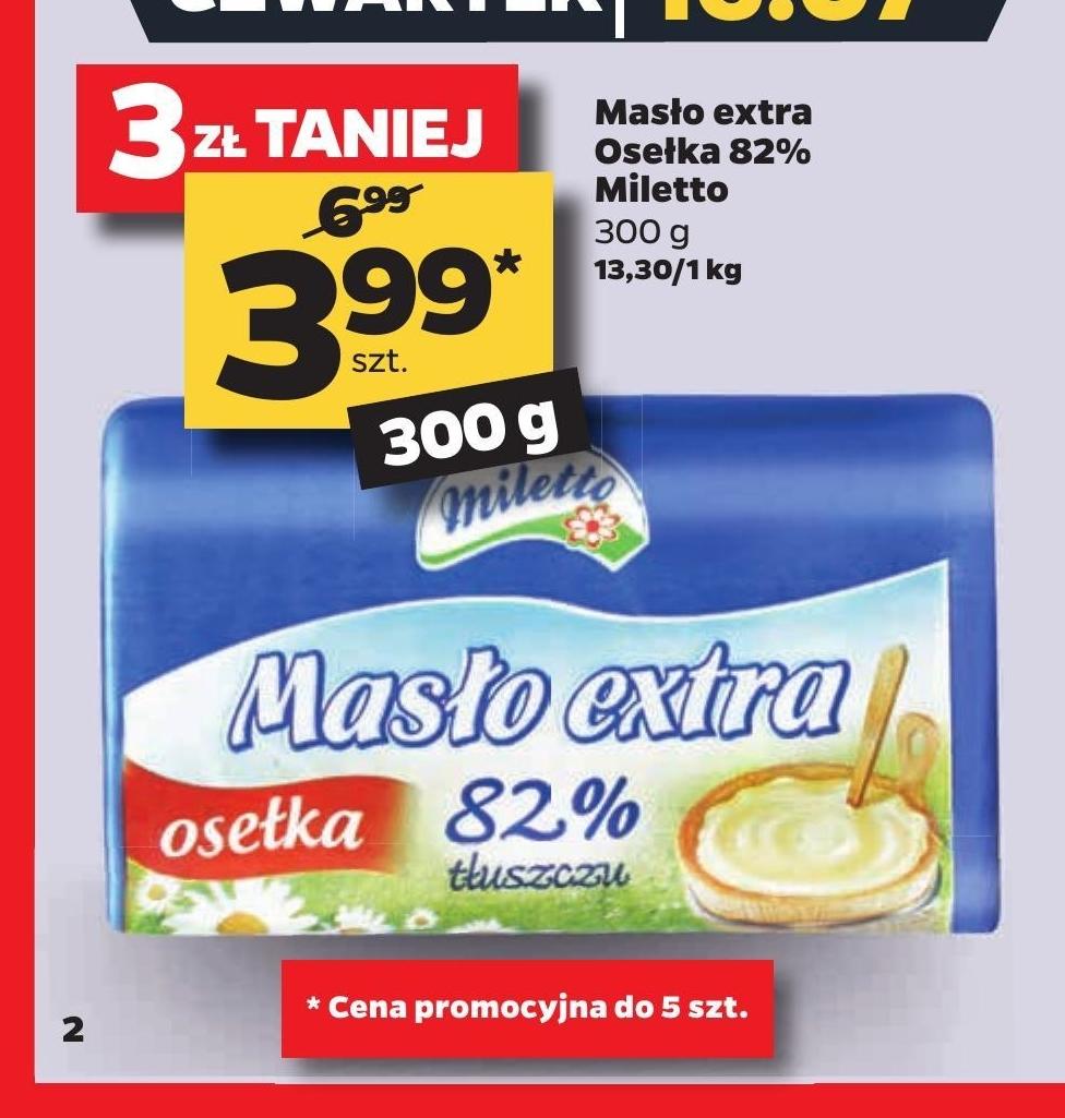 Masło Miletto niska cena