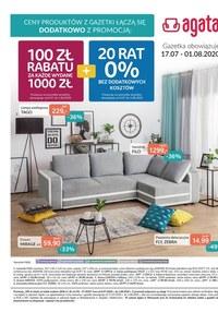 Gazetka promocyjna Agata  - Korzystne rabaty w salonach Agata - ważna do 01-08-2020