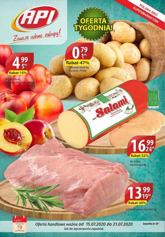 Gazetka promocyjna Api Market - ważna od 15. 07. 2020 do 21. 07. 2020