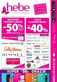 Gazetka promocyjna Hebe - Promocje w sklepach Hebe - ważna do 29-07-2020