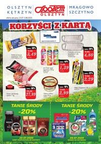 Gazetka promocyjna Społem Olsztyn - Korzyści z kartą w PSS Olsztyn - ważna do 03-08-2020